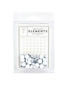 American Crafts Elements Medium Brads, White