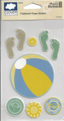 Beach Chipboard Scrapbook Stickers