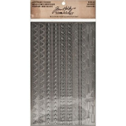 Tim Holtz Idea-ology TH93091 16 Borders Industrious Stickers, 13cm by 20cm , Metallic