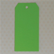 Maya Road ML2591 Manila Shipping Tags No.5 Scrapbooking Embellishments, Lime Green