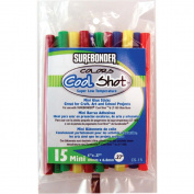 Super Low Temp Cool Shot Mini Glue Sticks 0.8cm x 10cm 15/Pkg-Assorted Colours