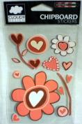 CLOUD9 Chipboard Stickers ~ Heart Bouquet