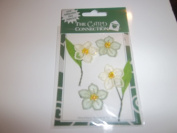 Card Connexion Cloth Flower Stickers