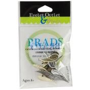 Eyelet Outlet Shape Brads-Wing 12/Pkg
