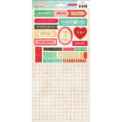 American Crafts - Crate Paper - Fourteen Collection - Cardstock Stickers - Mini Alphabet Titles