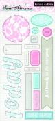 Teresa Collins Designs Sweet Afternoon Chipboard Elements 2