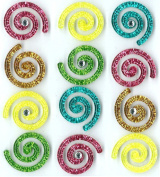 Jolee's Boutique Cabochons Dimensional Stickers, Swirls