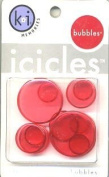 Red Hot Round Icicles Bubbles