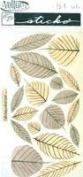 Sticko Vellum Stickers - Brown & Orange Leaves