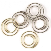 Mini Metal Spiral Clips 25/Pkg-Gold & Silver