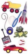 Sandylion Boys Toys 3D Scrapbooking Stickers