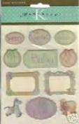 Baby Word Domes Marcella Epoxy Scrapbook Stickers