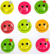 Jolee's Boutique Cabochons Dimensional Stickers, Smiley Faces