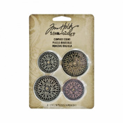 Compass Coins by Tim Holtz Idea-ology, Pack of 4, Assorted Finishes, TH93061