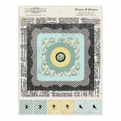 Renew Double-Sided Cardstock Die-Cuts 15cm x 18cm -Textured Frames & Corners