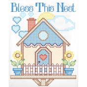 Stamped White Sampler 28cm x 36cm -Bless This Nest