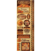 Signature Series 2012 Cardstock Combo Stickers 11cm x 30cm -Pumpkin Patch