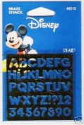 Disney Brass Stencil Alphabet #46513