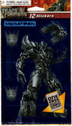Transformers Revenge of the Fallen Megatron Foil Scrapbook Stickers