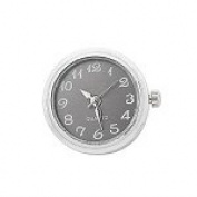 Stainless Steel Noosa Style Grey Watch Chunk Charm