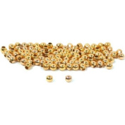 100 Ball Beads Gold Plated Round Beading Stringing 2mm
