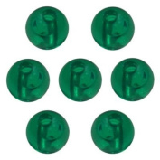 6mm Plastic Round Fishing Beads - Transparent Emerald