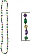 Mardi Gras Beads - Oval/Berry