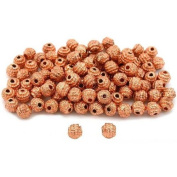 Round Bali Beads Copper Plated Beading 5mm Approx 100