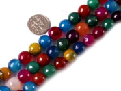 """6mm Round Faceted Mixed Colour Agate Beads Strand 15"""" Jewellery Making Beads"""