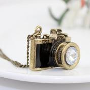 New Arrival. Individual Rhinestone Vintage Camera Pendant Necklace