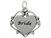 Sterling Silver Bride Charm