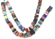 Bead Collection 40147 Glass Milifiore Light Multi Colour Beads, 18cm