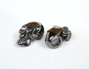 5 Metal Black Skull Beads For 550 Paracord Bracelets, Lanyards, & Other Projects