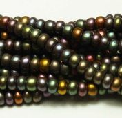 "Czech Seed Beads 15cm Dark Bronze Iris Metallic"" Mix"