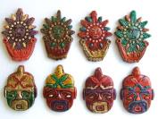 Eight Ceramic Beads Pendants, 2.5cm