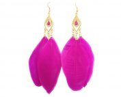 Large Vintage Ear Cuff Drop Feather Cartilage Earrings for Women g410-10 RR