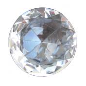 Big 60mm Crystal Clear Cut Glass Diamond Jewel