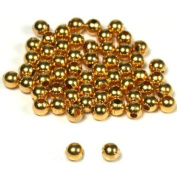 60 Gold Plated Ball Beads Round Stringing Beading 4mm