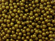 100pc 8mm Dark Goldenrod Acrylic Pearl Beads Gumball Bubblegum Beads Necklace Beading Supplies