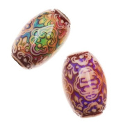 Mirage Colour Changing Mood Beads - Persian Beauty Pattern 21.5x14.2mm