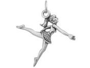 Sterling Silver Ballerina Ballet Charm