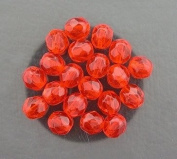 20 HYACINTH CZECH FIRE CRYSTAL FACETED BEADS 6MM