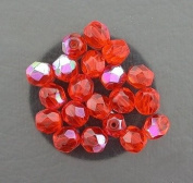 20 HYACINTH AB CZECH FIRE CRYSTAL FACETED BEADS 6MM