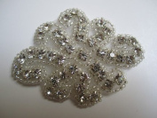 7cm Hot Fix Rhinestone Applique - Flower Design by Cosmetic Counter