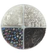 Glass Bead Shakers - 340gr350ml/Black/White Mix