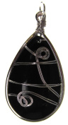 Bead Collection 41314 Glass Wrapped Teardrop Pendant, 20 by 45mm