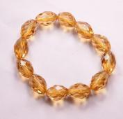 Gold Crystal Bracelet good for wealth- J074