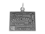 Sterling Silver Wyoming State Charm