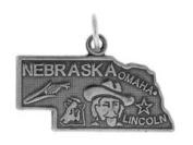 Sterling Silver Nebraska State Charm
