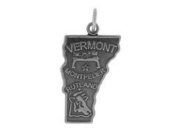Sterling Silver Vermont State Charm